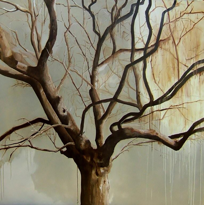 Tree gauguery painting arbre st tropez grand format